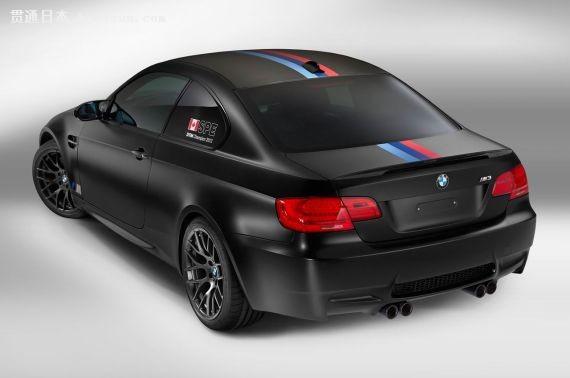 该车采用黑色金属漆和黑色哑光多辐条合金轮毂,再配上宝马m运动部门的