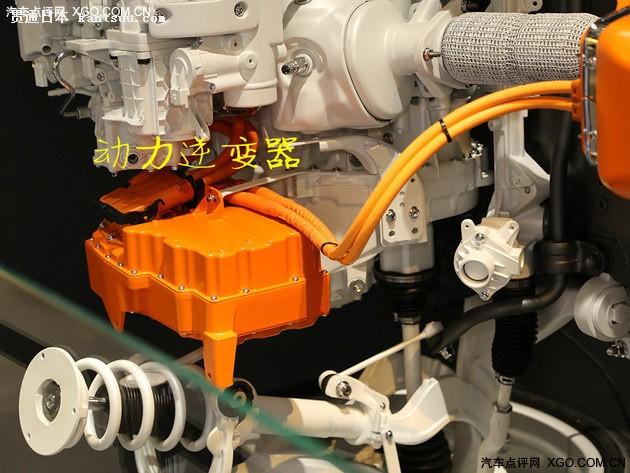 △ 逆变器位于发动机旁,任何与电力驱动相关的和与发动机之间的配合都