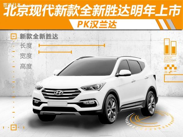 北京现代新款全新胜达明年上市 pk汉兰达