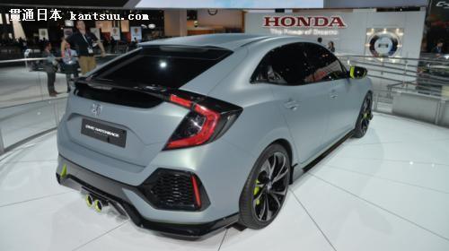 本田思域掀背原型车亮相纽约 量产车前瞻——贯通日本